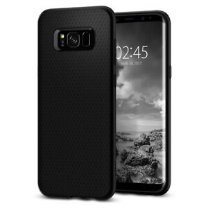 For Galaxy S8 Plus Case, Spigen Liquid Air Slim TPU Shockproof Cover - Black