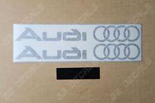 2x Audi Logo Alt Premium Cast Skirt Decals Stickers A3 A4 A6 S-line Quattro RS