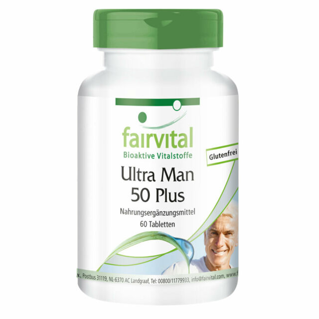Ultra Man 50 Plus 60 Tabletten Multivitamin mit über 50 Vitalstoffen | fairvital