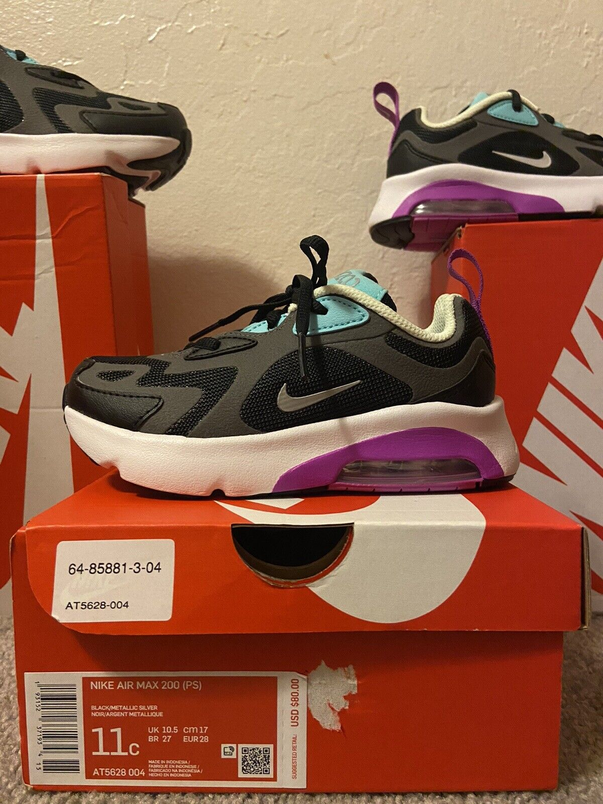 Nike Air Max 200 Size 3 youth
