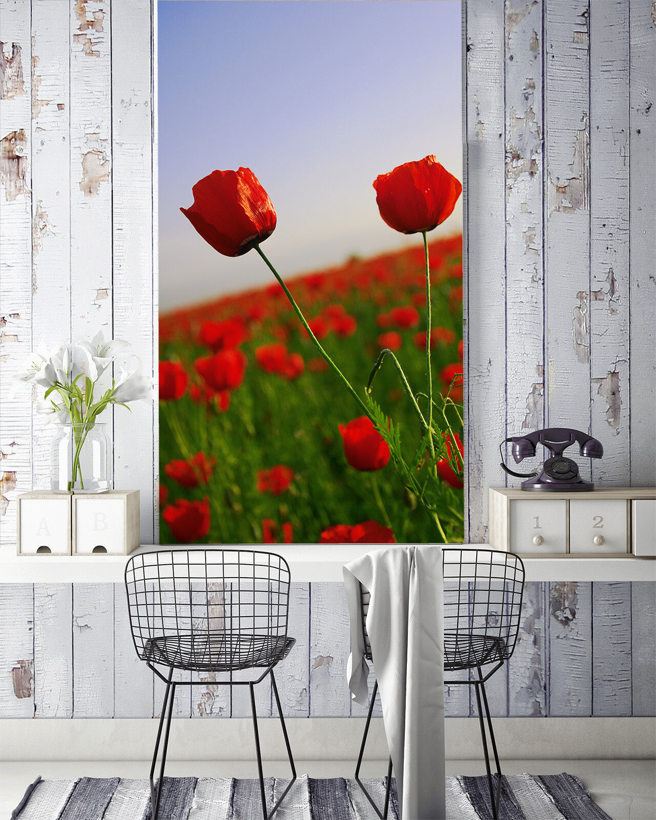 3D Bright ROT Flowers 8 Wall Paper Wall Print Decal Wall Deco Wall Indoor Murals