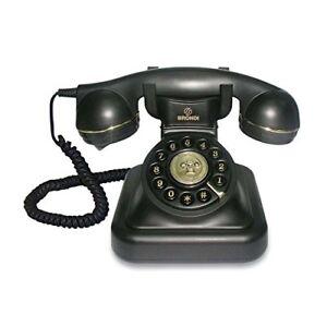 Phone-Retro-Analog-With-Cable-Decoration-Design-Antique-Vintage-Colour-Black