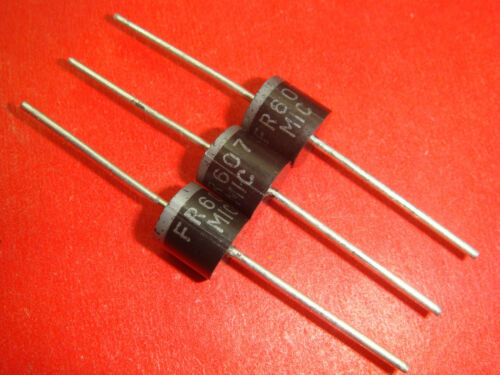 5pcs FR607 6A 1000V Fast Recovery Diodes new