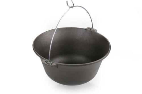 ungherese Gulasch Gulasch Caldaia 10 Litri ghisa Cuoco Cucchiaio Coperchio-acciaio inox