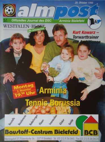 Programm 1998//99 Arminia Bielefeld Tennis Borussia