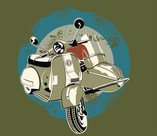MOD SKA Northern Soul Scooter Vespa T Shirt Retro Classic Tee Vintage