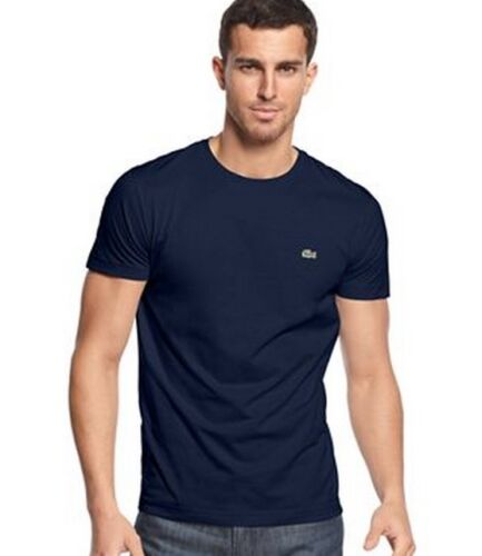 Authentic  Lacoste  Men/'s 100/% Cotton Pima Crewneck SS Tee  T-Shirt Shirts