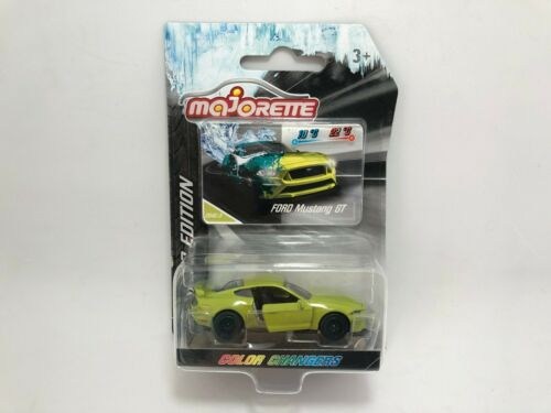 Majorette Ford Mustang GT Green Series 6 Color changers Limited Edition car