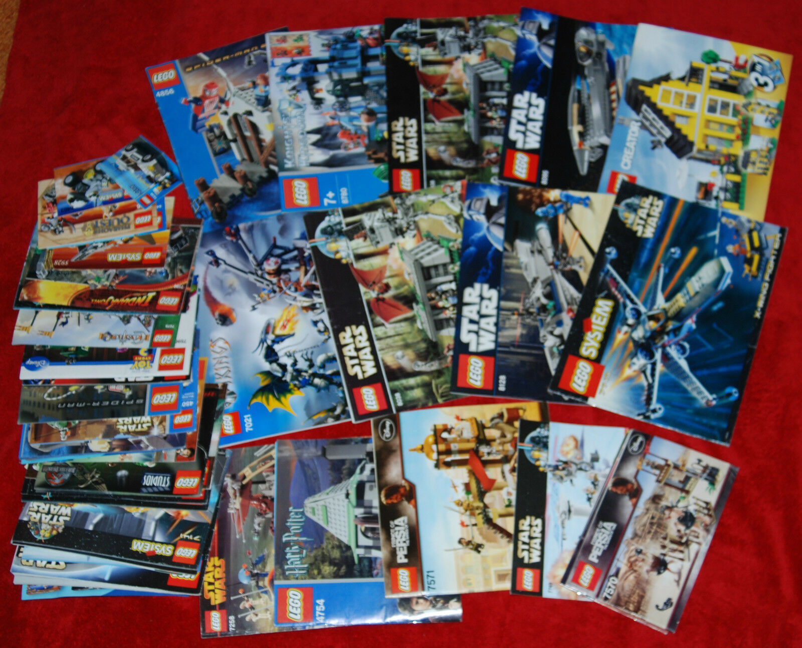 LEGO Manuals Instruction Booklets Lot 42 Star Wars,Indiana Jones,Harry,SPIDERMAN