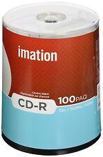 Imation CD-R White Full Face Inkjet Printable 52X 700MB 80MIN 100 Pack