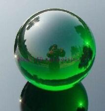 Asian RARE Natural Quartz Green Magic Crystal Healing Ball Sphere 40mm Stand