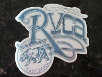"Authentic RVCA Sticker California BEAR Clear background BLUE 5 3/4"" x 5 1/2"""