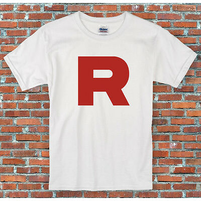 Pokemon Team Rocket R Cosplay Retro T Shirt S-2XL