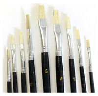 0-16 Artist's Flat Brush 9-piece Set