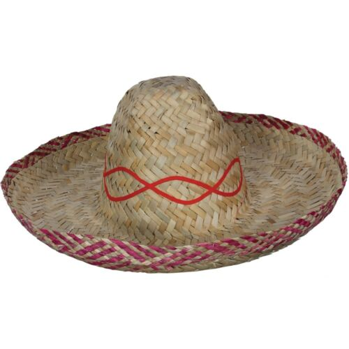 Mexican Sombrero Hat Wild Western Bandit Fancy Dress Adults New Mexico