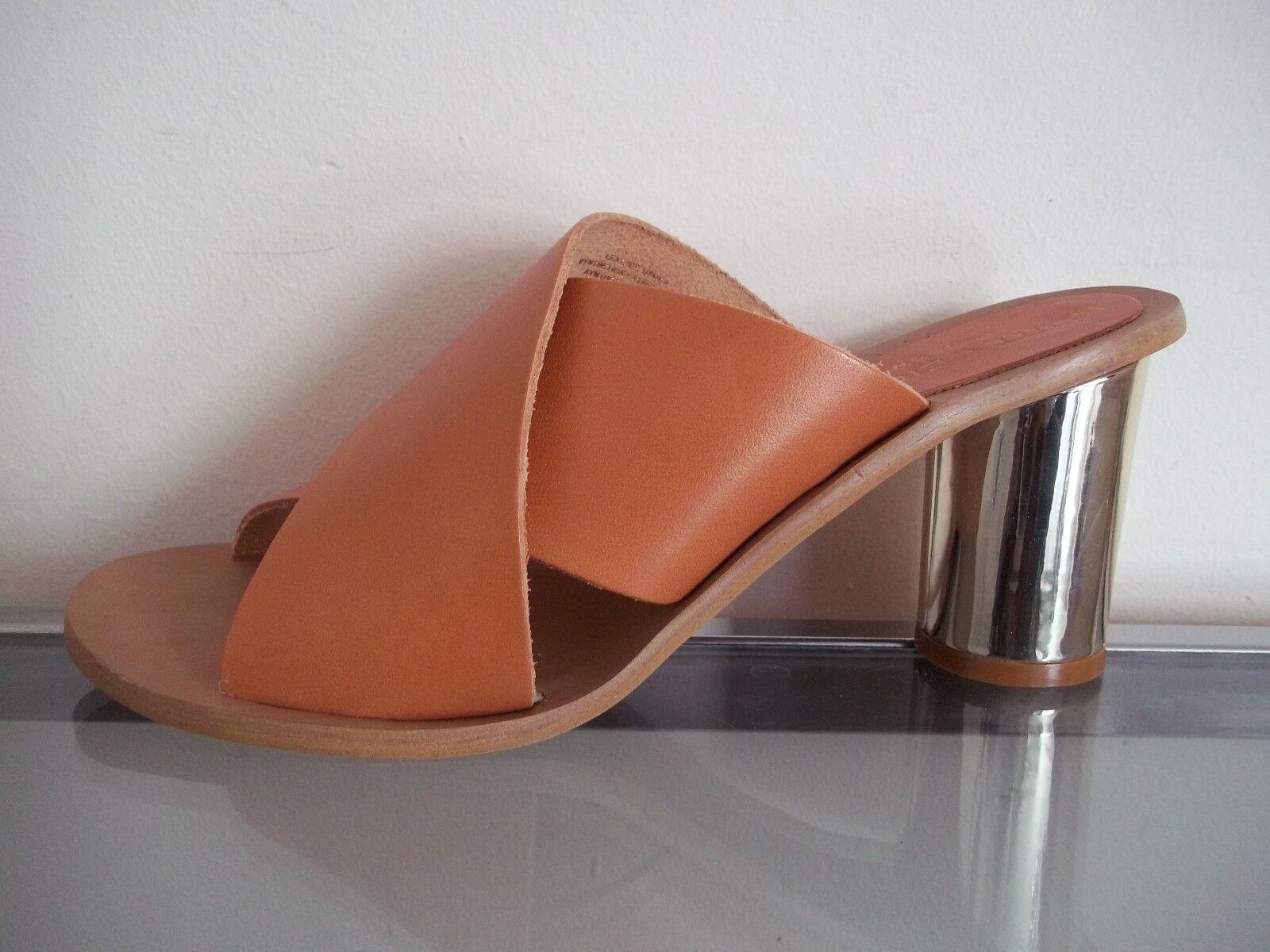 Kurt Geiger London Aubrey Tan Leather Mules Größes UK 5 38, 6 39, 7 40