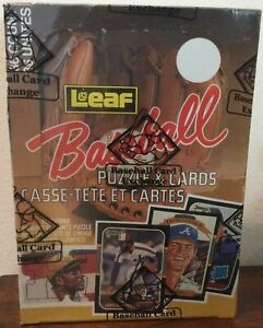 Perfectly Sealed, 1987 Leaf Baseball Wax Pack Box - BBCE Authenticated (FASC)