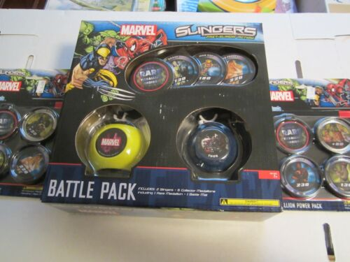 Battle Pack /& 2 X Power Pack NEW MARVEL Upper Deck Slingers Action Game