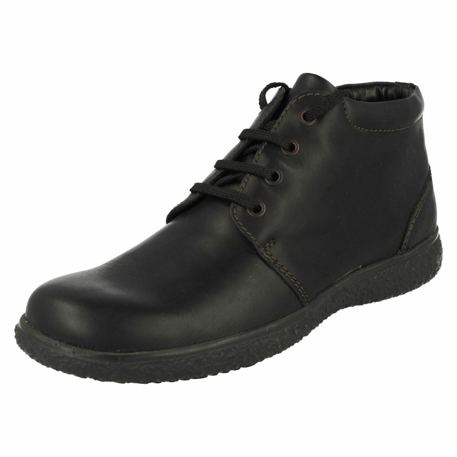Padders Mens Warmlined Lace Up Ankle Boots Mel