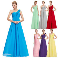 One Shoulder Bridesmaid Prom Formal Party Evening Cocktail Gown Masquerade Dress