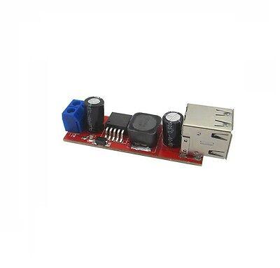 Dual USB Output DC-DC Step Down Power Module 9V/12V/24V/36V to 5V USB 3A NEW