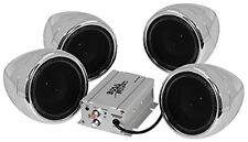 BOSS AUDIO MC470B Chrome 1000 watt Motorcycle/ATV Sound System with Bluetooth of