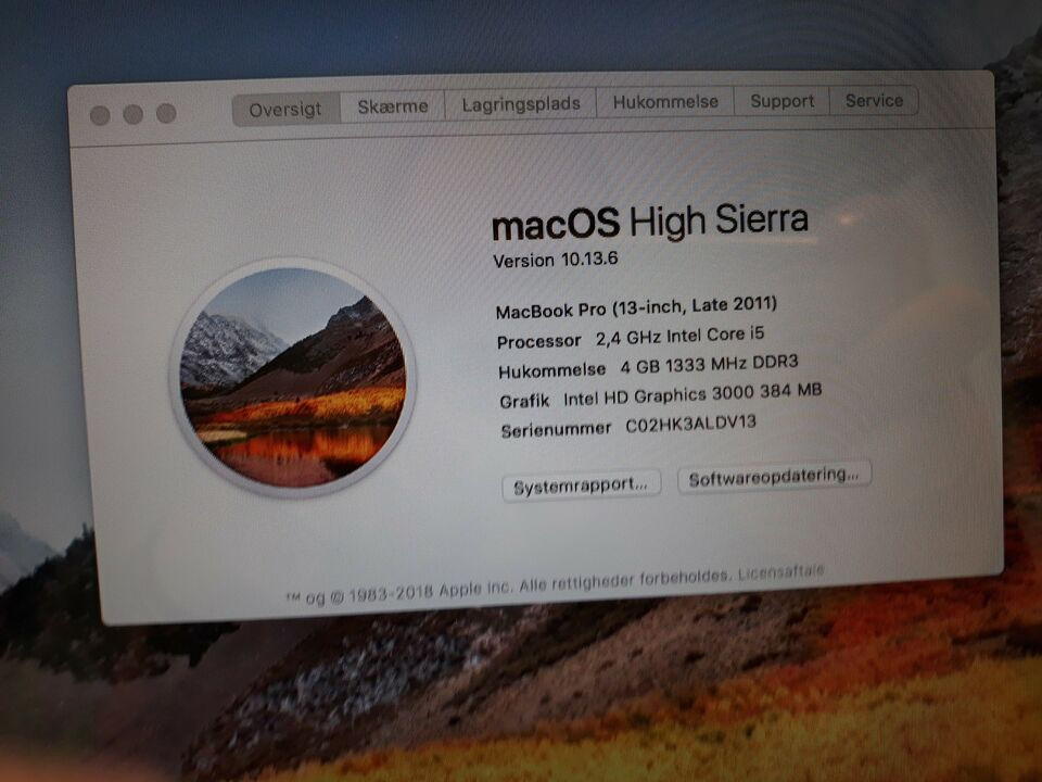 MacBook Pro, A1278, 2,3 GHz