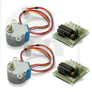 2pcs dc 5v stepper motor 28byj 48 uln2003 driver test for How to check stepper motor