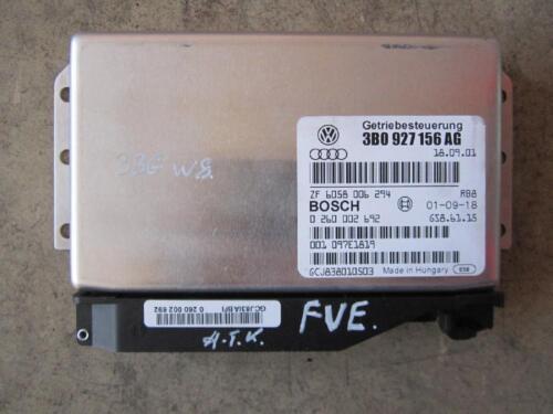 Boîte de vitesses contrôle dispositif de commande vw passat 3bg w8 FVE 3b0927156ag