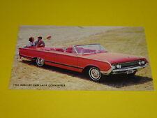 1964 MERCURY PARK LANE CONVERTIBLE POSTCARD, DEALER ADVERTISEMENT
