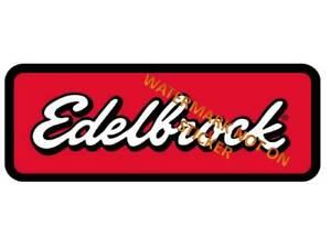 VINTAGE-EDELBROCK-DECAL-STICKER-LABEL-LARGE-240mm-HOT-ROD