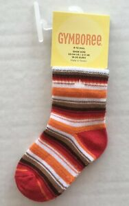 NWT Gymboree Fiesta Fiesta 6-12 Months Red Orange /& Brown Striped Socks