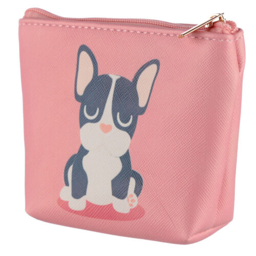 Rose Porte-monnaie Porte-monnaie-Français Bulldog Design Frenchie Sac dog squad