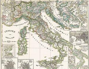 Landkarte Italien 1270 1450 Sizilien Im Mittelalter