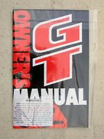 Original Early 1990's Gt Bmx Bicycle, Owners Manual, Very Good Condition