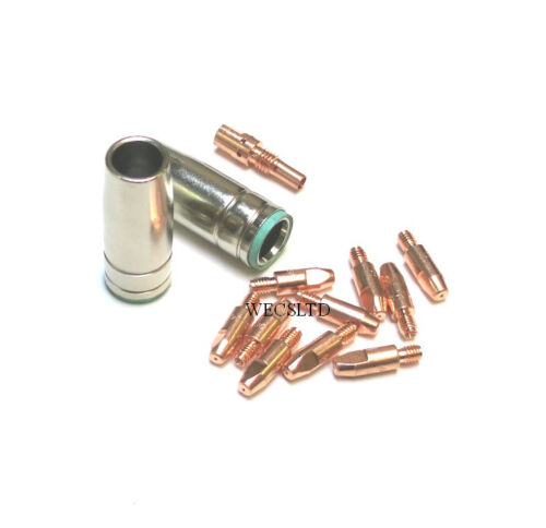10 MIG TIPS 1MM X2 NOZZLE+ADAPTOR SIP DRAPER CLARKE etc COMPATABLE