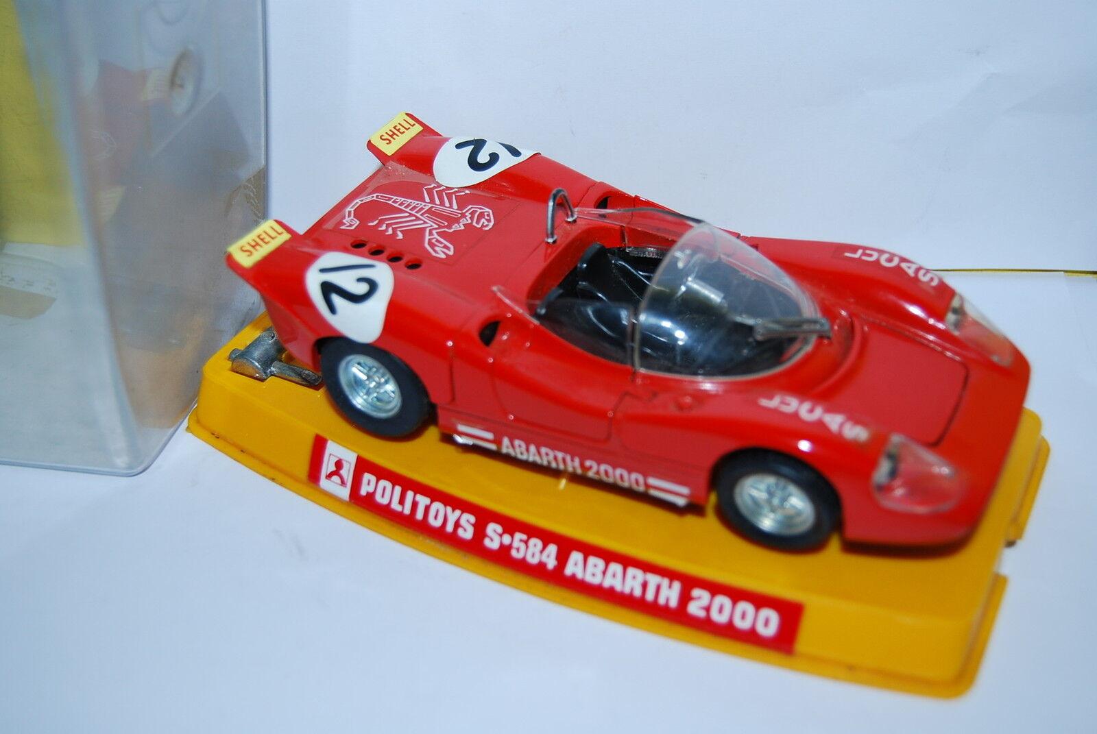 POLITOYS S.584 ABARTH 2000 SCALE SCALE SCALE 1 25 NEUVE BOITE NEW BOX 4bd07c
