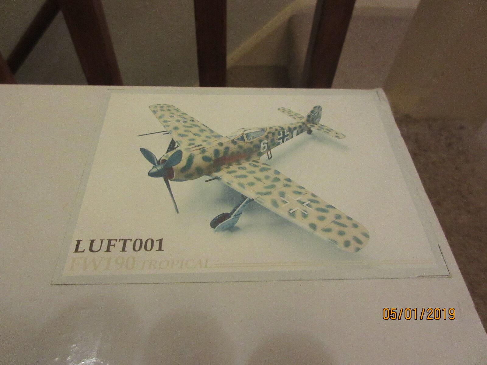 1 30 Thomas Gunn LUFT001 LUFT001 Focke Wulf 190 Tropical FW190 NOT King & Country