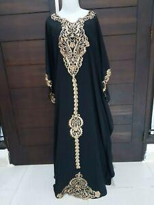 kaftan-abaya-lace-maxi-dress-black-gold-plus-size-maternity-bohemian