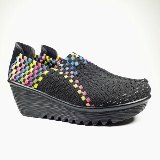 BM. Bernie Mev multi color woven slip on shoes 38 | Slip
