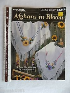 Afghans-in-Bloom-Morning-Glory-Rose-Pansy-Sunflower-Cross-Stitch-Patterns-1994