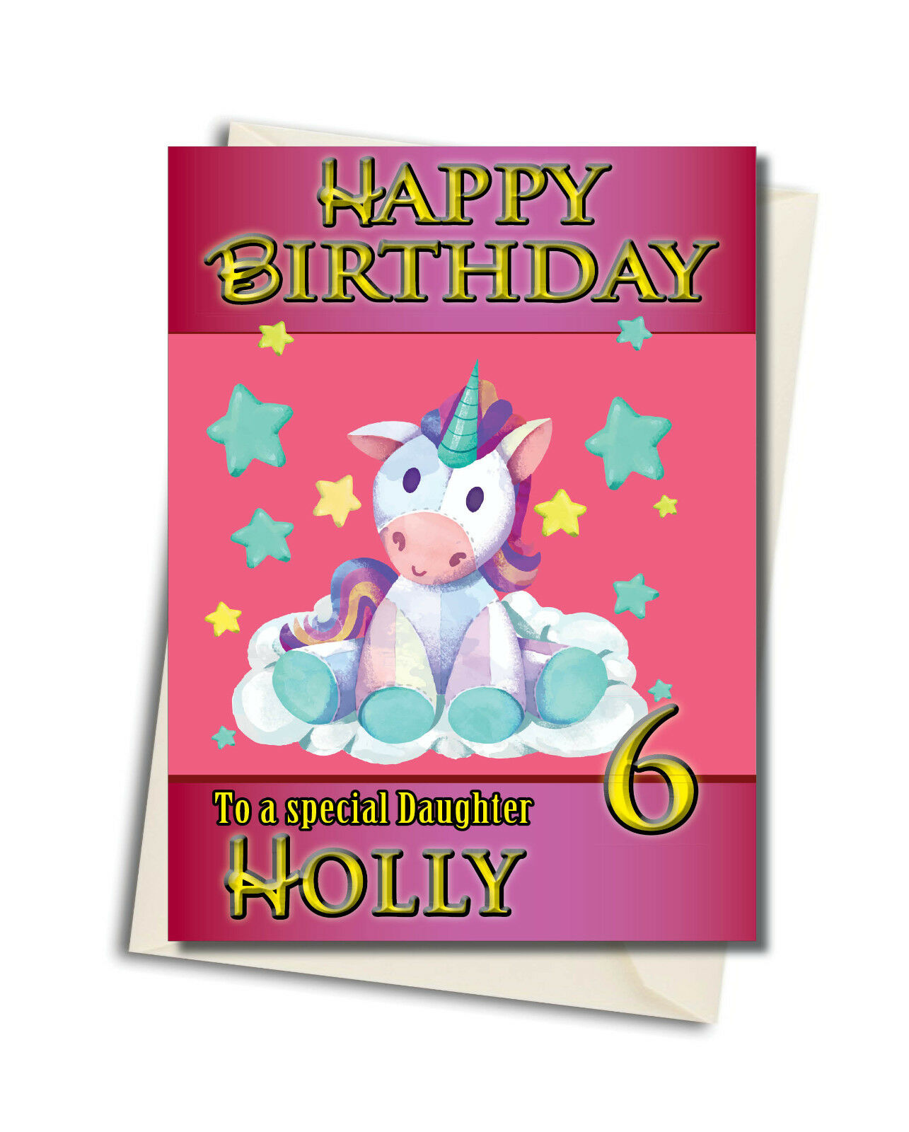 LARGE A5 GLOSSY PERSONALISED GAME OF THRONES BIRTHDAY CARD