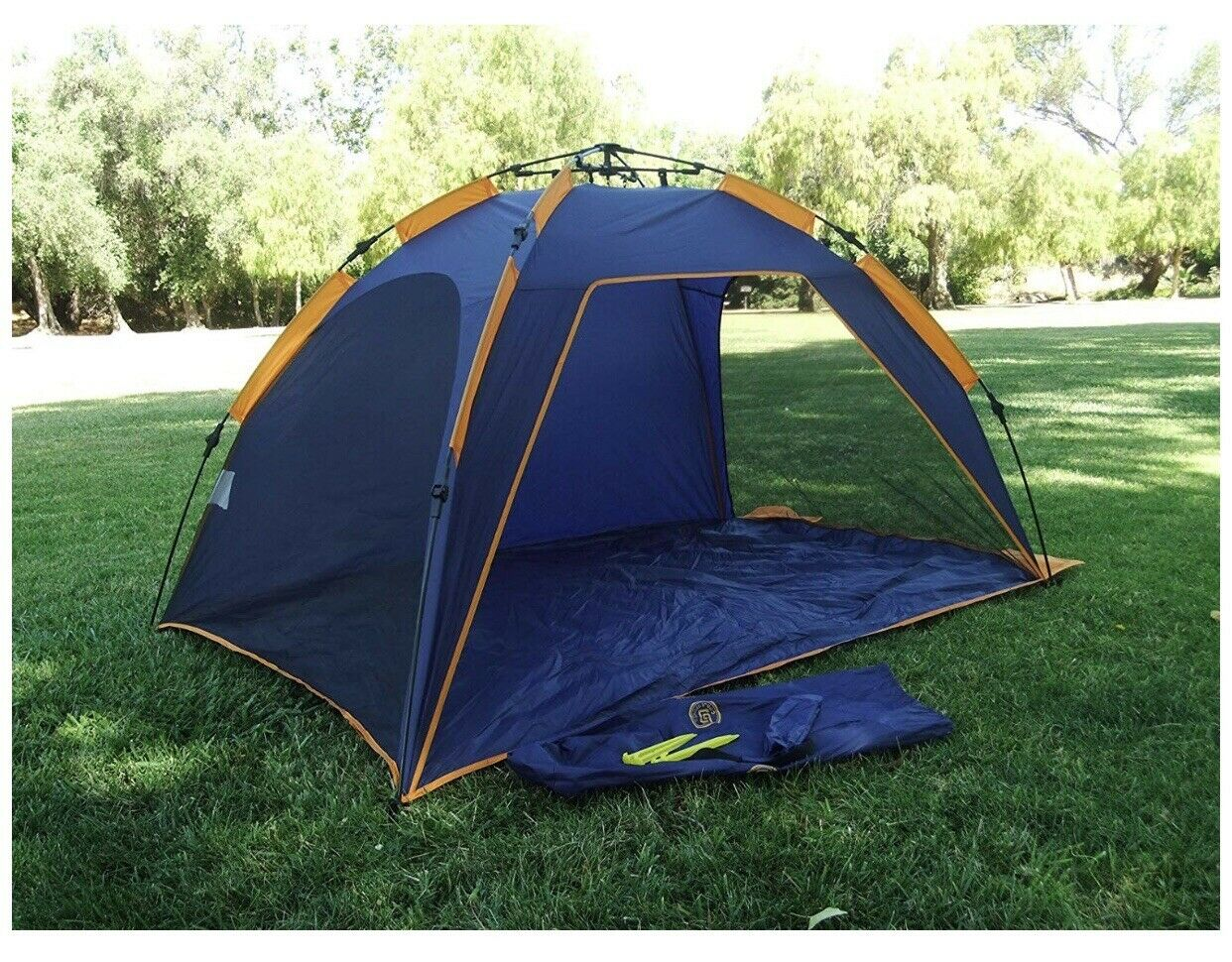 Genji sport Push Pop Up Instant Beach Tent For Vacation & Shade