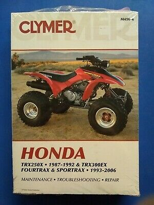 Clymer Repair Manual For Honda Trx 250 X 87-92 Trx 300 Ex 93-06 M456-4 Atv M456
