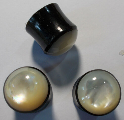 14mmmother of pearl inlayl design horn plug
