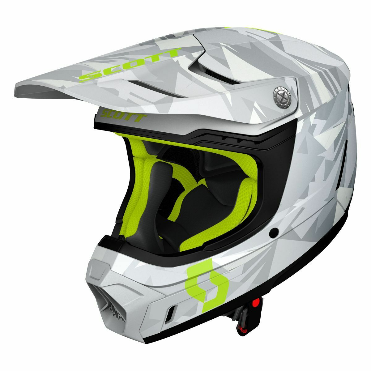 Motos de Scott 350 Evo Camo MX Enduro   casco gris amarillo 2019 de la bici