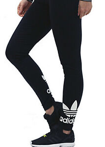 Girls-ADIDAS-ORIGINALS-trefoil-Leggings-black-ages-7-12-kids-NEW-LAST-FEW-SALE