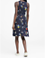 Pre-Owned-Banana-Republic-Floral-Navy-Blue-Fit-and-Flare-Dress-Retailed-128 thumbnail 2