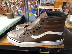 acf5125132 Vans SK8-Hi MTE Rain Drum Leather Brown Chocolate Size US 12 Men s ...