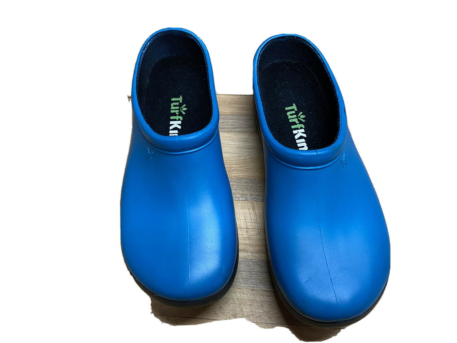 Slogger's Turf king Women's Rubber Clogs Size 8 Blue Slip-on Outdoor Mules Shoes